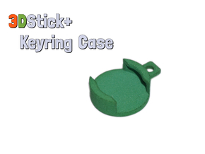 3DStick+ Keyring Case in Green Processed Versatile Plastic