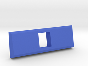 1 Coin Bezel (3 coin wide) - Pinball Coin Door in Blue Processed Versatile Plastic