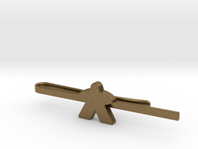 Meeple Tie Clip in Natural Bronze: Medium