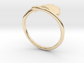 Ginkgo Leaf ring in 14K Yellow Gold: 6 / 51.5