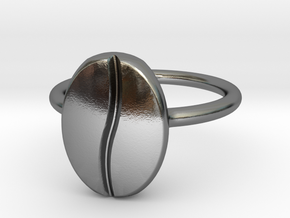 Coffee Bean Ring in Polished Silver