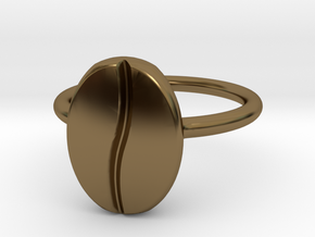 Coffee Bean Ring in Polished Bronze