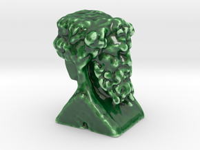 Hermes Double Head  in Gloss Oribe Green Porcelain