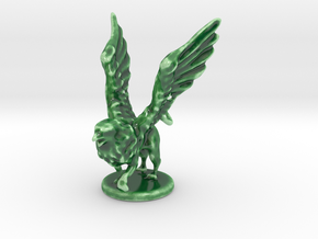 Eagle Griffin in Gloss Oribe Green Porcelain