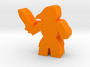 Game Piece, Barbarian Heroine in Orange Processed Versatile Plastic