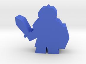 Game Piece, Dwarven Warrior in Blue Processed Versatile Plastic