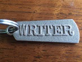 Mighty Writer (2-sided pendant) in Stainless Steel