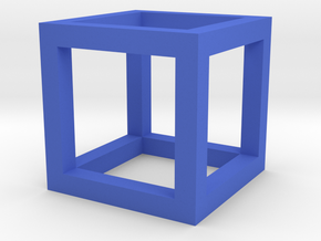 Gcube2 in Blue Processed Versatile Plastic