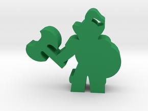 Game Piece, Orc Warrior in Green Processed Versatile Plastic