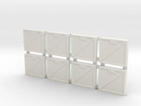 Cavalry Tiles in White Natural Versatile Plastic