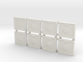 Artillery Tiles in White Natural Versatile Plastic