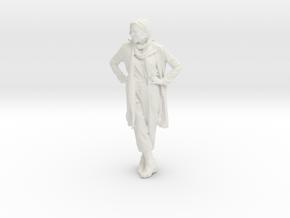 Printle C Femme 011 - 1/20 - wob in White Natural Versatile Plastic