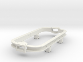 Gn15 skip chassis version2 to fit kadee in White Natural Versatile Plastic