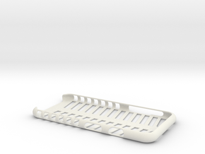 Case for iphone 6 in the form of a skeleton in White Strong & Flexible