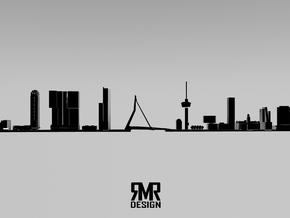 Skyline Rotterdam in White Natural Versatile Plastic