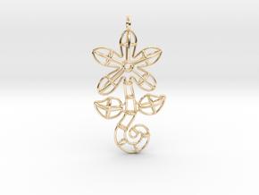 Flower in 14k Gold Plated Brass
