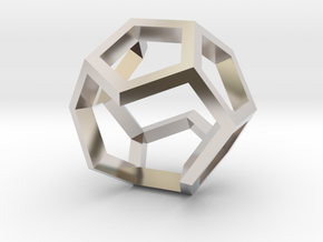 Dodecahedron Sculpture Ring B Gmtrx  in Platinum