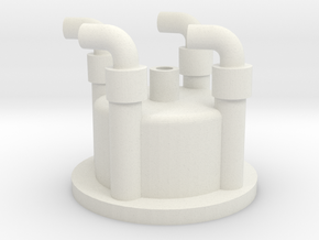 1:6 scale distributor cap in White Strong & Flexible