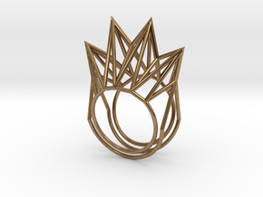 Rhombus Ring (Medium) in Natural Brass: 11 / 64