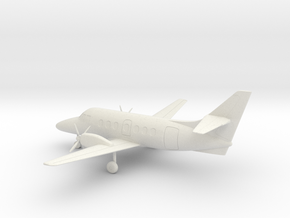 British Aerospace Jetstream 31 in White Natural Versatile Plastic: 1:72