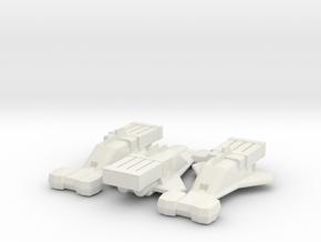 Starfire x3 (Jason of Star Command) in White Natural Versatile Plastic: 1:160 - N