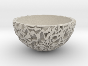 Galaxy Bonsai Pot XXL (17 cm) in Natural Sandstone