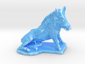 Boar in Gloss Blue Porcelain