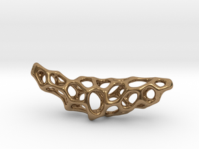Cellular Necklace in Natural Brass