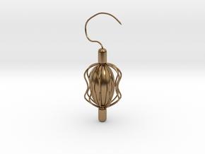 Something Inside Earring in Natural Brass