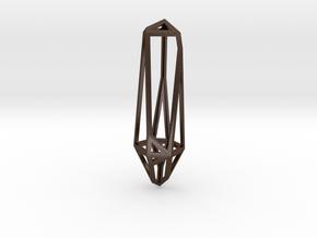 Hypercrystal Pendant in Polished Bronze Steel: Large