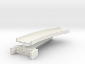 T-gauge curved bridge 120 mm in White Natural Versatile Plastic