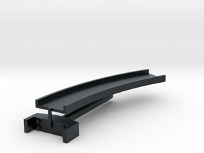T-gauge curved bridge 158 mm in Black Hi-Def Acrylate