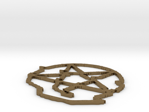 Infinity Shred Coaster in Natural Bronze