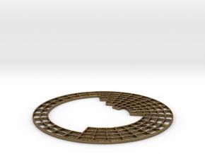 Periodic Table coaster in Natural Bronze