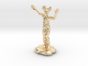 Wilden Warden Greenman Standing Pose in 14k Gold Plated Brass