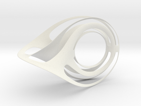 Scultura Moebius variazione (175-250 mm) in White Natural Versatile Plastic: Extra Small