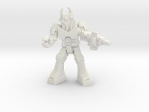 Waruder Battas Soldier, 35mm mini in White Natural Versatile Plastic