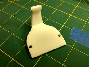 Airsoft AUG Reinforced Gearbox Plate in White Natural Versatile Plastic