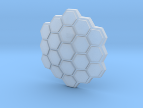 Hexagonal Energy Shield, 5mm grip in Smooth Fine Detail Plastic