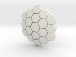 Hexagonal Energy Shield, 4mm Grip in White Natural Versatile Plastic