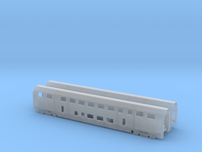 N07A - SBB Twindexx 2nd Class Trailer - N Scale in Smooth Fine Detail Plastic