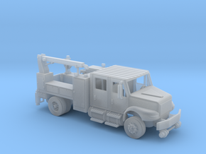 4 Door Signal Truck Maintenance Body With Hi Rail  in Smooth Fine Detail Plastic