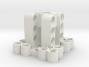 MERCURY BL Outrunner C35-30 Motor Mount V2 in White Natural Versatile Plastic