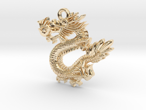Dragon in 14K Yellow Gold