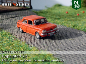 NSU TT (N 1:160) in Smooth Fine Detail Plastic
