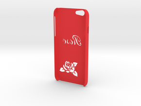 """IPhone 6 Case """"ROSE"""" in Red Strong & Flexible Polished"""