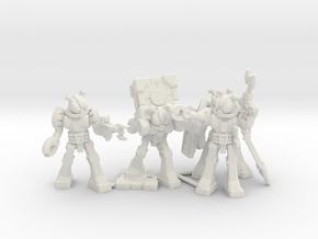 Waruder Kabutron Scavenger Squad, 4 35mm minis in White Strong & Flexible