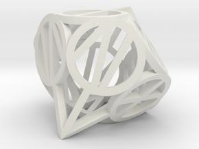 d10 circled Roman number in White Natural Versatile Plastic
