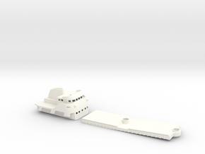Coaster 840, Superstructure & Hatches (1:160, RC) in White Processed Versatile Plastic
