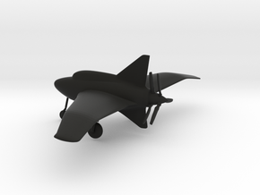 Northrop XP-56 Black Bullet in Black Natural Versatile Plastic: 1:160 - N